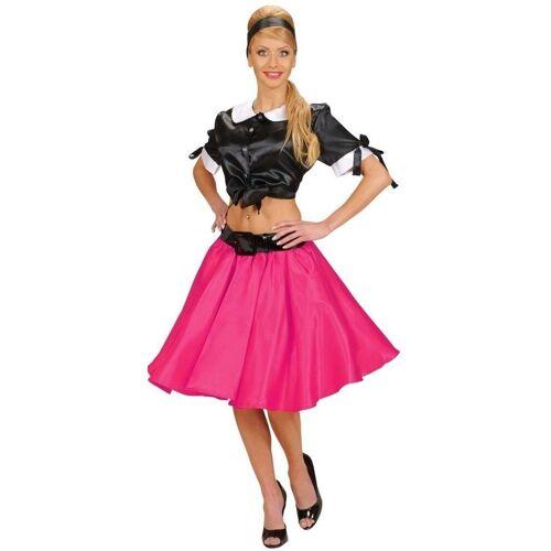 Widmann Kostüm »50s Satin-Rock mit Petticoat pink«