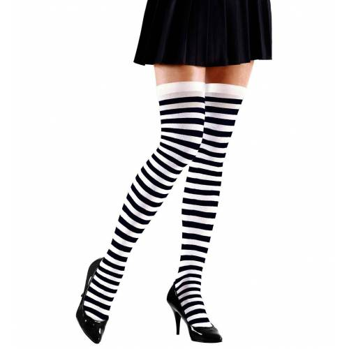 Widmann Kostüm »Gestreifte Overknees schwarz-weiß«