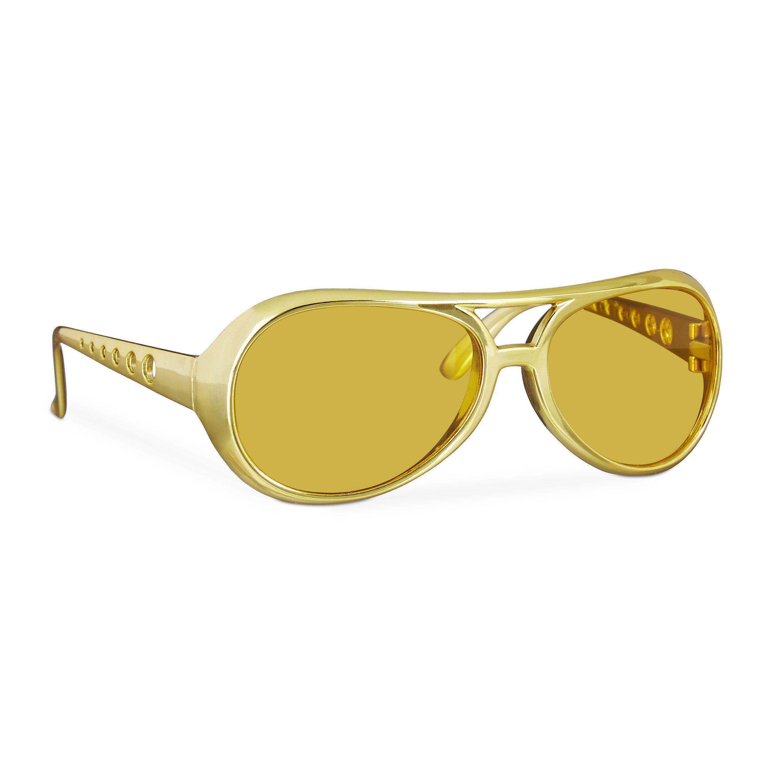 relaxdays Kostüm »Rapper Brille Gold«