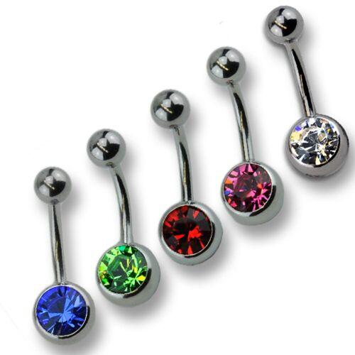 Zeeme Bauchnabelpiercing-Set »Piercing Set 316l CHS Stahl Kristall«