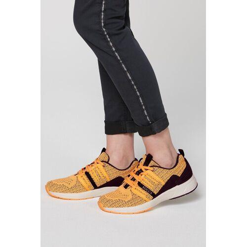 SOCCX Sneaker mit Label-Print, gelb