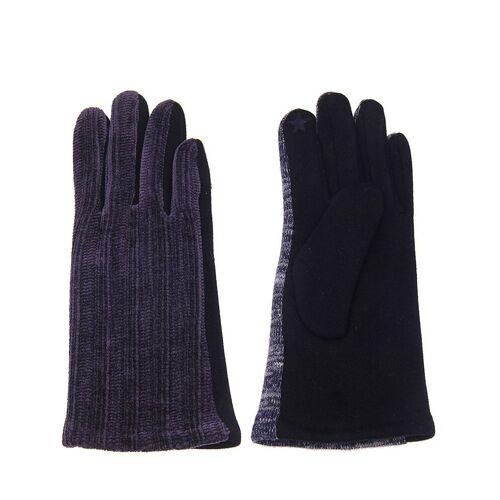 leslii Handschuhe mit modischem Strickmuster, blau