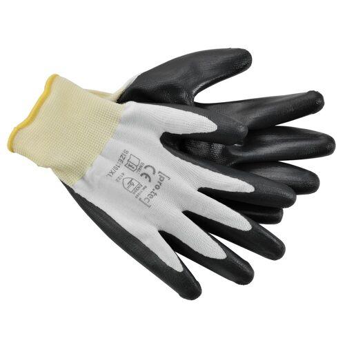 Pro-tec Gartenhandschuhe (24 Paar) 24x Arbeitshandschuhe - in verschiedene Größe - flexibel Gartenhandschuhe Mechaniker Handschuhe