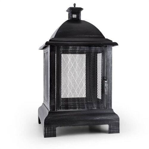 blumfeldt Feuerstelle »Loreo Feuerstelle Gartenkamin Feuerlaterne Gartenofen Stahl brüniert«, Feuerstelle aus brüniertem Stahl