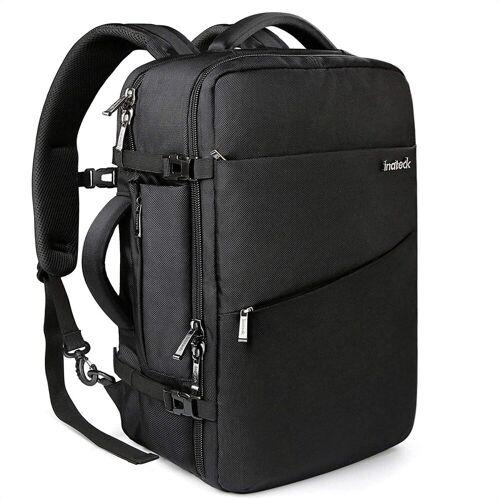 Inateck Reiserucksack »40L Supergroßer Handgepäck Reiserucksack Laptop Rucksack für 15,6-17 Zoll Notebooks, Flug Genehmigt«, Schwarz