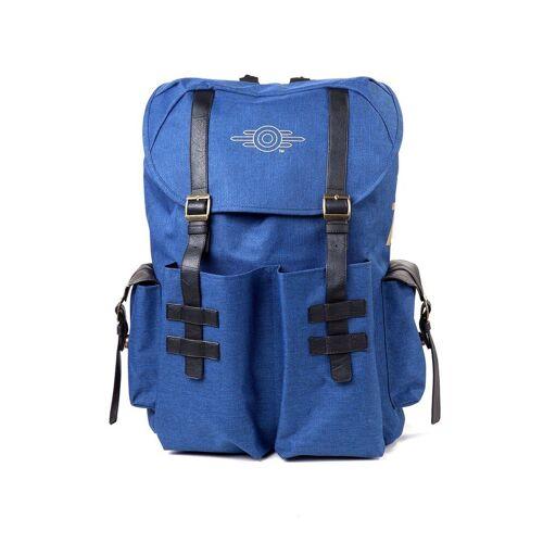 Bioworld Cityrucksack »Fallout 76 - Gold Foil Logo Printend Solid Blue Melange Backpack Rucksack Neu«
