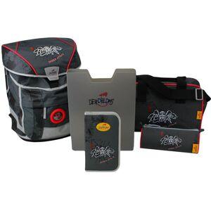 DerDieDas® Schulrucksack »ErgoFlex Vario - Spider Attack« (Set)