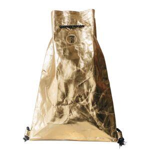 Washmebags Rucksack in glänzendem Look, gold