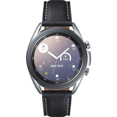 Samsung Galaxy Watch3, Edelstahl, 41 mm, LTE (SM-R855) Smartwatch (3 cm/1,2 Zoll), black   Mystic Silver