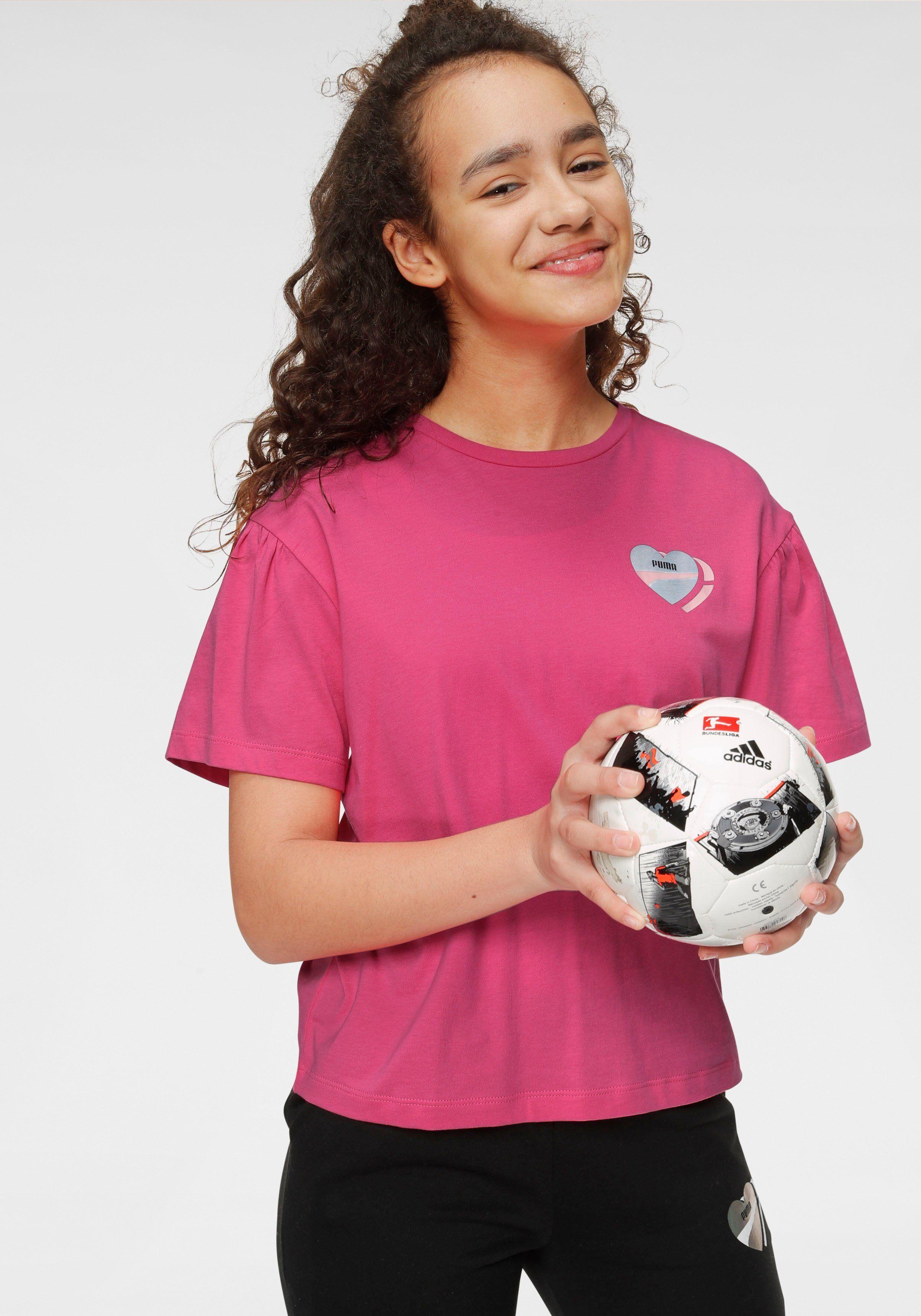 Puma T-Shirt »ALPHA STYLE TEE GIRLS«, pink