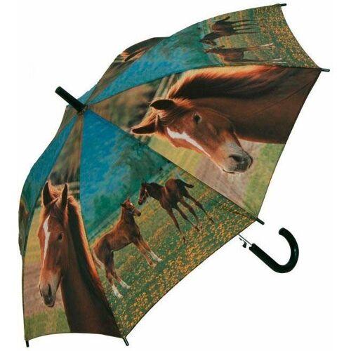 doppler® Stockregenschirm »Jugend AC Pferde«