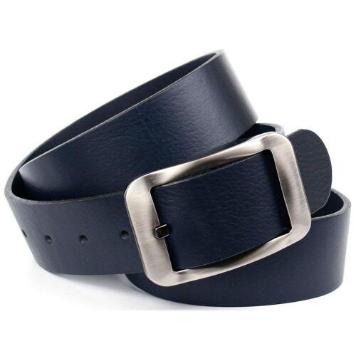Crown Anthoni Crown Ledergürtel Hochwertiger Denim-Gürtel, blau