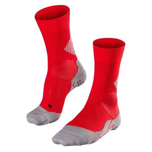 FALKE Sportsocken »4 Grip Sportsocke«, rot/grau