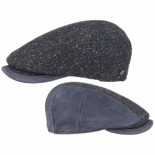 Lierys Flat Cap (1-St) Flatcap mit Schirm, blau