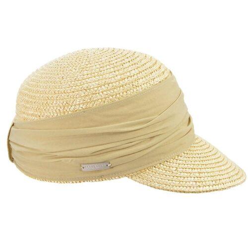 Seeberger Strohhut Strohborten Cap mit UV Schutz 80, Hellbeige