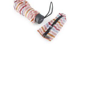 TOM TAILOR Taschenregenschirm »gemusterter Regenschirm«, rot-bunt
