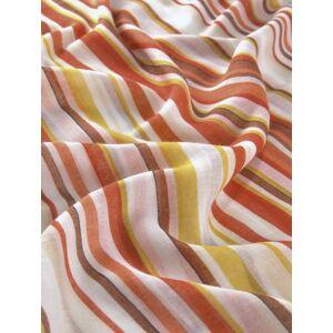 TOM TAILOR Modeschal »Gemusterter Schlauchschal mit tropischem Print«, orange-gelb-weiß-gestreift