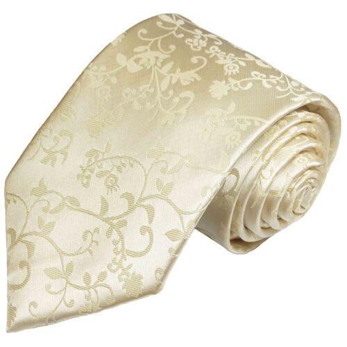 Paul Malone Krawatte »Herren Hochzeitskrawatte floral 100% Seide Bräutigam Hochzeit Schlips« Schmal (6cm), champagner 948, champagner