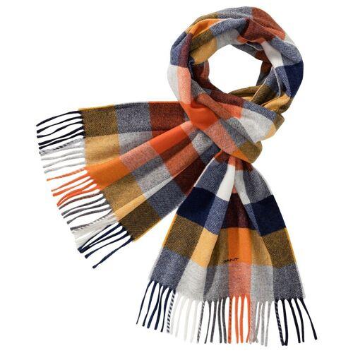 Gant Schal »Karoschal«, Orange/Grau/Marine   Orange/Grau/Marine