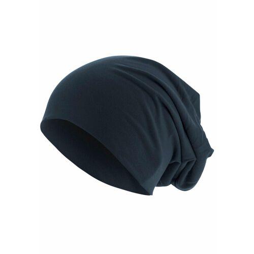 MSTRDS Beanie Jersey Mütze, Oversize, marine