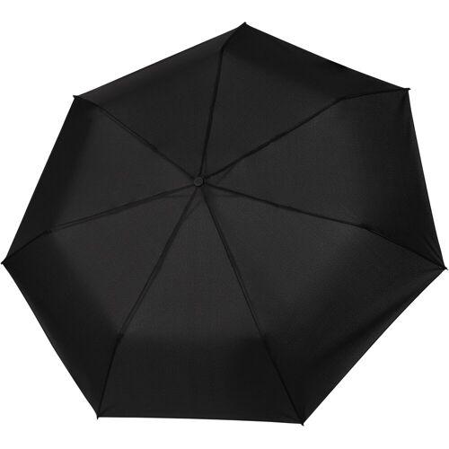 Tamaris Taschenregenschirm »Tambrella, black«, mit Metallic-Elementen am Schirmdach