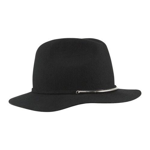 Loevenich Hut mit Band, teils im Metall-Look, schwarz
