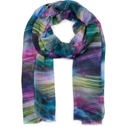 styleBREAKER Schal »Schal mit maritimem Wellen Muster« Schal mit maritimem Wellen Muster, Blau-Pink-Grün