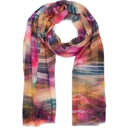 styleBREAKER Schal »Schal mit maritimem Wellen Muster« Schal mit maritimem Wellen Muster, Pink-Gelb-Blau