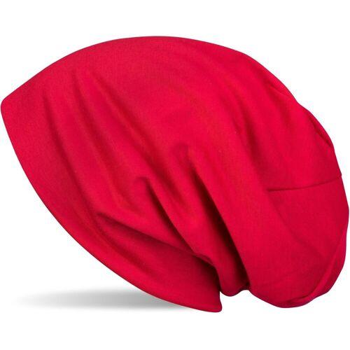 styleBREAKER Beanie »Uni Slouch Beanie Mütze«, Rot