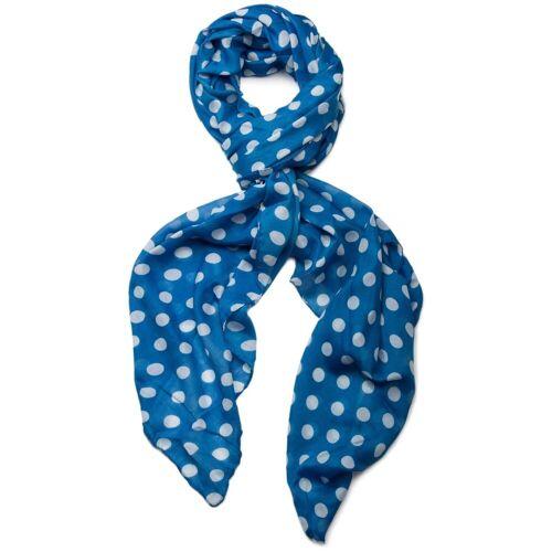 styleBREAKER Schal »Schal mit Punkte Muster« Schal mit Punkte Muster, Blau