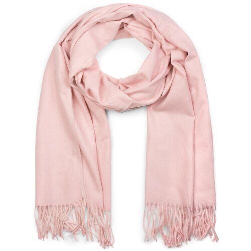styleBREAKER Schal »Weicher Schal Uni mit Fransen« Weicher Schal Uni mit Fransen, Rose