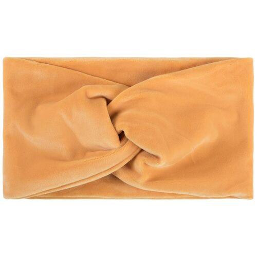 styleBREAKER Stirnband »Samt Stirnband mit Twist Knoten«, Orange