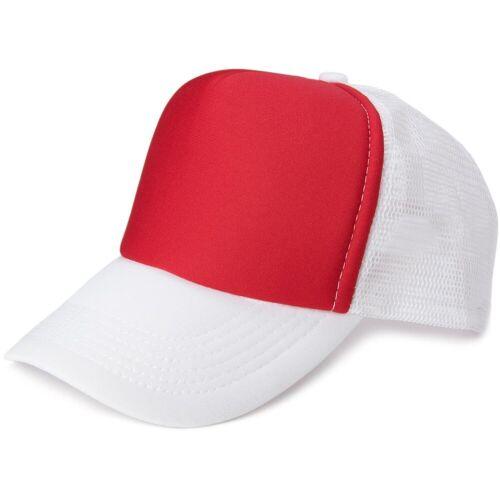 styleBREAKER Baseball Cap »5 Panel Mesh Cap« 5 Panel Mesh Cap, Rot-Weiß