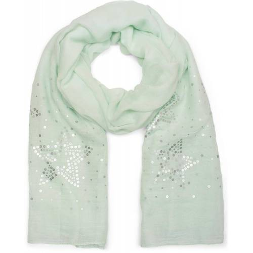 styleBREAKER Schal »Schal mit Pailletten Sternen« Schal mit Pailletten Sternen, Mint
