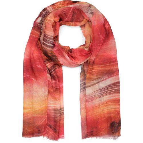 styleBREAKER Schal »Schal mit maritimem Wellen Muster« Schal mit maritimem Wellen Muster, Rot-Orange