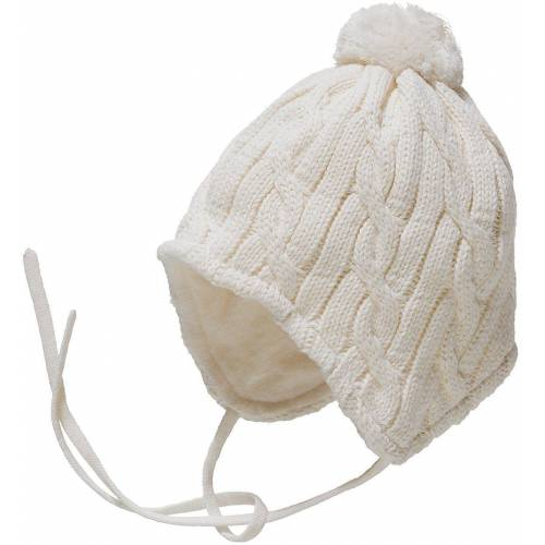 Sterntaler® Bommelmütze »Baby Bommelmütze für Mädchen«, ecru