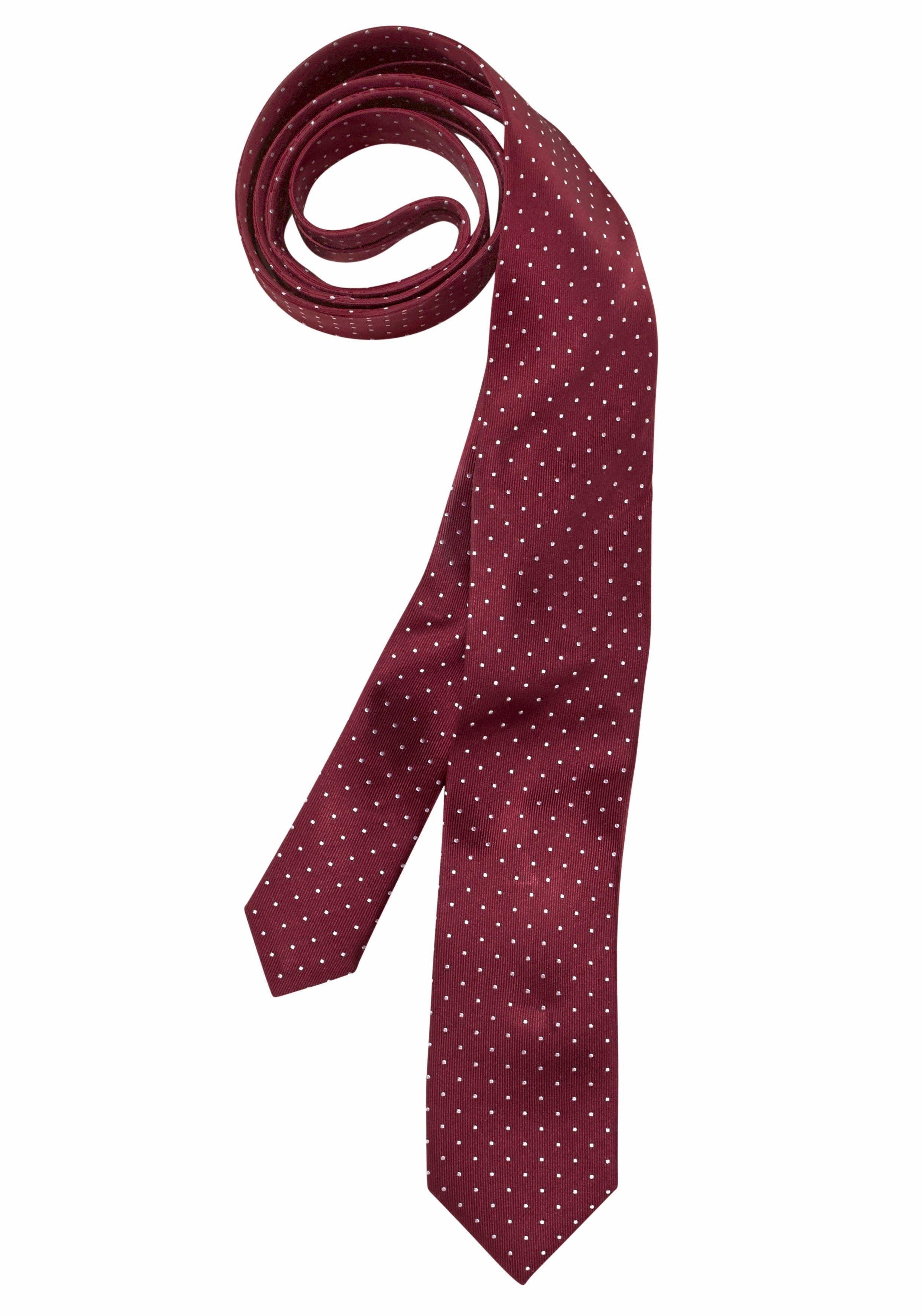 OLYMP Krawatte klassisches Pünktchenmuster, bordeaux-gepunktet