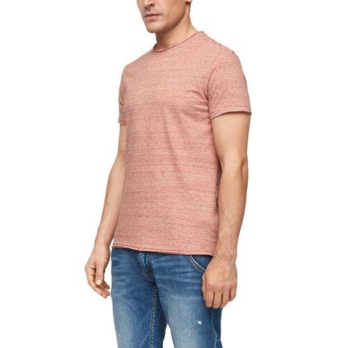 Q/S designed by T-Shirt in melierter Optik, rot-meliert