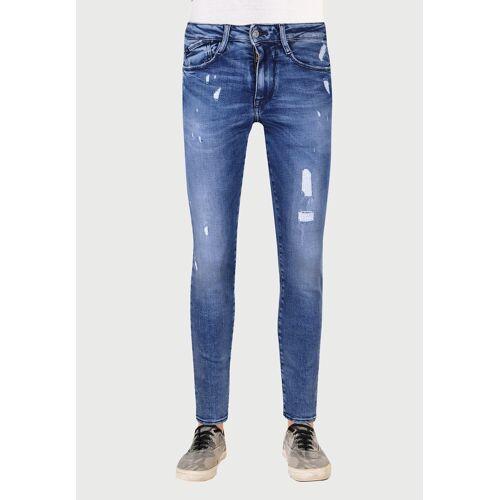 Le Temps Des Cerises Slim-fit-Jeans im modischen Used-Look