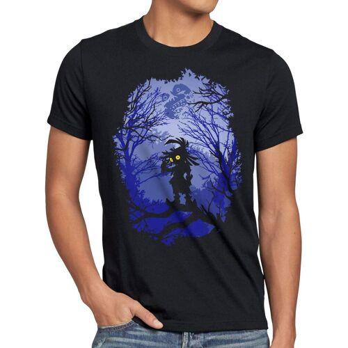 style3 Print-Shirt Herren T-Shirt Skull Kid majoras mask n64 maske