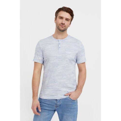 Finn Flare T-Shirt »-« in melierter Optik, blau-meliert