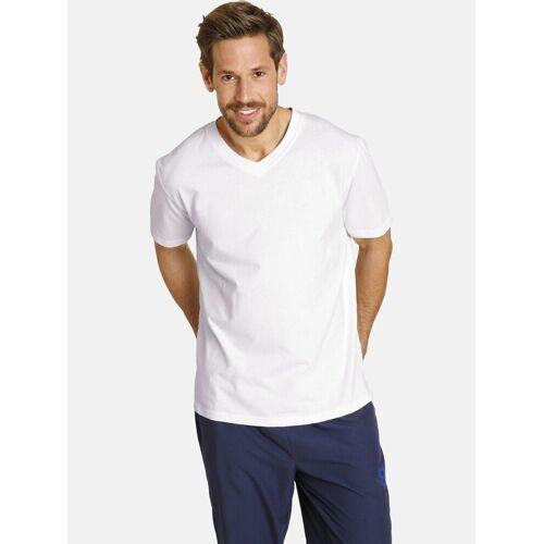 Jan Vanderstorm T-Shirt »OSMO« (2er-Pack) Basic Shirt, legere Passform, weiß