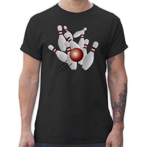 Shirtracer T-Shirt »Kegeln alle 9 Kegeln Kugel - Bowling & Kegeln - Herren Premium T-Shirt«, 1 Schwarz