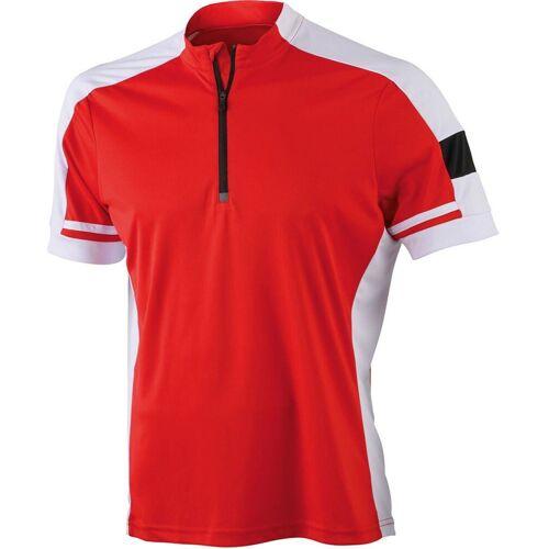 James & Nicholson Radtrikot »JN 452 Herren Rad Shirt mit 1/2 Zip, Trikot« leicht und komfortabel, red