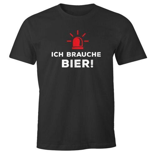 MoonWorks Print-Shirt »Herren T-Shirt Ich brauche Bier! lustiges Trink Shirt Saufen Bier Party ®« mit Print