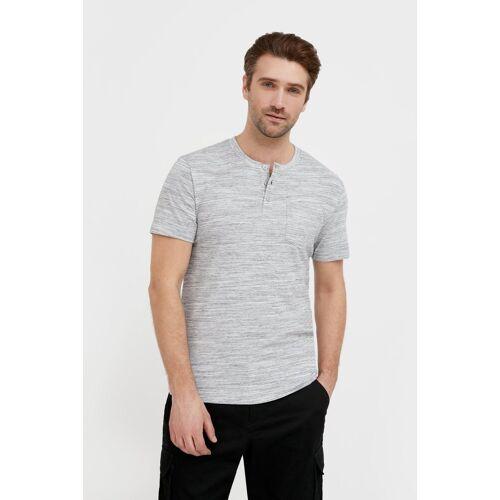 Finn Flare T-Shirt »-« in melierter Optik, grau-meliert