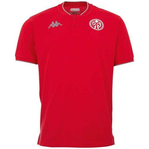 Kappa Poloshirt »MAINZ 05 POLOSHIRT« in Piqué Qualität, rot