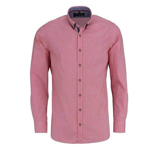 MARVELIS Trachtenhemd »Freizeithemd - Trachten - Karo - Doppelkragen«, rot