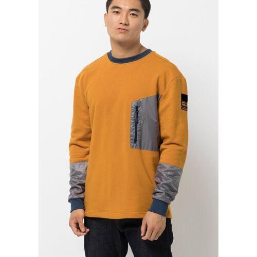 Jack Wolfskin Sweater »365 THUNDER POCKET CREW M«, senf