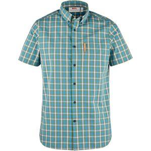 Fjällräven Halbarm Trekkinghemd Övik Shirt, Azure Blue